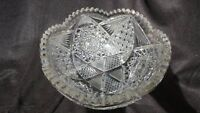 "Antique American Brilliant Period Cut Glass 9 1/4"" Bowl"