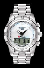 T0472204411600 Tissot T-Touch II Shiny Titanium Ladies Diamond Women's Watch