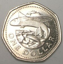 1994 Barbados One 1 Dollar Flying Fish Coin XF
