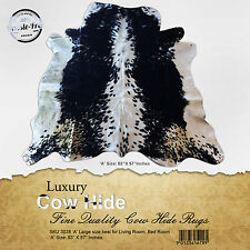 "New Cowhide Rugs Area Rug Cow hide Skin Leather Size (53""x57"") Cowhide SKU 3038A"