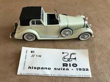 Vintage Rio #65 1932 Hispano Suiza 1:43 scale Diecast model car cream color toy