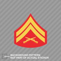 USMC Marine E-5 Sgt Sergeant Rank Insignia Sticker Chevron Car Truck Wall Decal