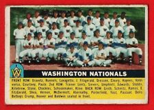 1956 Topps Baseball #146 Washington Nationals Team Card VG Combined Shipping