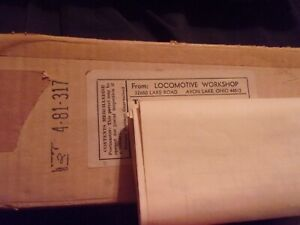 Locomotive works S Scale Brass s-4 switcher kit in original box.