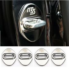 4Pcs Mazdaspeed Chrome Stainless Steel Car Door Lock Protective Cover Sticker