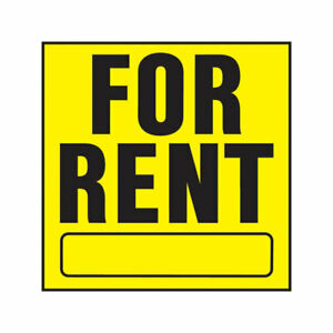 Hy-Ko YP-5 Plastic Black/Yellow for Rent Sign 11 x 11 in. (Pack of 20)