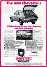 Vauxhall Chevette E 3-dr Limited Edition 1976 UK Market Leaflet Sales Brochure