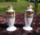Vintage hand Painted Gold Gilt Japanese salt and pepper shakers