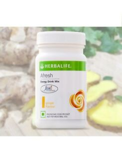 Herbalife Afresh ginger Energy Drink  Herbal Tea 50gm / 1.7 Oz Free Shipping