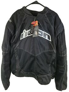 Icon Contra Textile Motorcycle Riding Sport Fit Jacket New 3XL with Tags