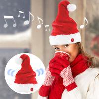 """Bonnet de Père Noël animé qui danse et chante """"You make me wanna shout"""""""