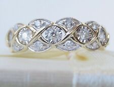 Genuine 0.20ct Diamond Ring In 9K Solid Yellow Gold