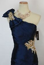 Jovani Size 6 Navy Prom Formal Long Gown Mermaid Dress $600 Solid Pageant NWT
