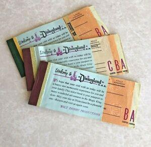 Vintage Disneyland Junior Ride Ticket Book & 2 adult books , Mr.Lincoln