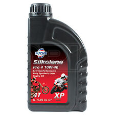 Silkolene PRO 4 10w-40 XP Full Synthetic Ester 4T Bike Engine Oil - 1 Litre