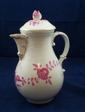 Excellent Antique Meissen Purple Indian Coffee Pot w Gold Accents Germany