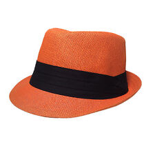 caaa93b2c5c09 Naranja Sombrero Fedora Gorra Estilo Clásico Papel L XL Fit