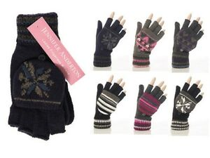 Ladies/Girls Jennifer Anderton Fingerless Mitten Cap Texting Gloves, One Size