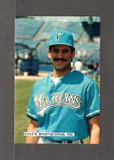 Luis Aquino  FLORIDA MARLINS  UNSIGNED 4 x 6 COLOR ORIGINAL SNAPSHOT PHOTO #1