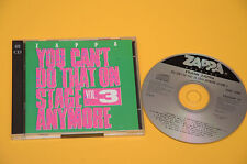 FRANK ZAPPA 2CD YOU CAN'T DO THAT ON STAGE VOL 3 ORIG  EX