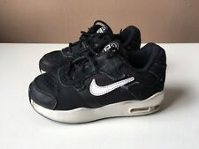 NIKE AIR MAX boys black low top trainers size 7.5 infant