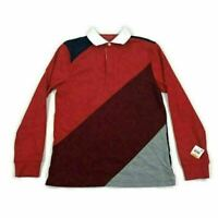 Club Room Mens Polo Shirt Rugby Colorblocked Red Gray Variety Sizes