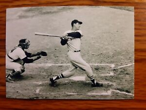 Ted Williams Red Sox Baseball 4x6 Game Photo Picture Card