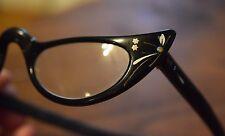 Vintage Cat Eye Eyeglasses Frames Women's Glasses Black 46 22 Paris