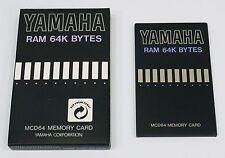 Yamaha MCD64 for SY/TG series RAM 64K BYTES MEMORY CARD - Brand New -