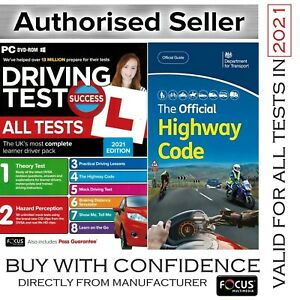 Official Highway Code Book + Driving Theory Test & Hazard CD DVD 2021 atPcH