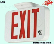 Emergency Exit Sign Led Light With Battery Backup Ceiling Wall Mount Ul Listed
