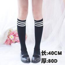 d820590b92c Women Girl Stripe Stripy Striped Over The Knee Thigh High Stockings Long  Socks