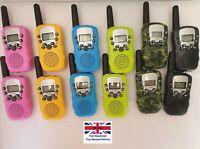 Children Walkie Talkies 2 Pcs Long Range UHF 446MHz 8 Channel Pink, Blue, Yellow