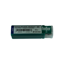 Heller 3mm HSS-G Super Twist Metal Drill Bits 10 Pack Ground Quality German Tool