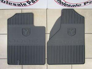 DODGE RAM 1500 Slate Gray Mega Cab Front Rubber Floor Mats NEW OEM MOPAR