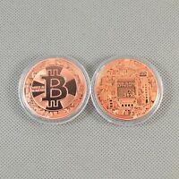 New! Solid Copper Commemorative Bitcoin Collectible Golden Iron Miner Coin Gifts