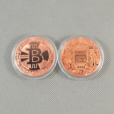 1PCS!Solid Copper Commemorative Bitcoin Collectible Golden Iron Miner Coin Gifts