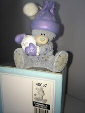 """LARGE 3.5"""" HIGH BOXED ME TO YOU FIGURINE TATTY TEDDY BEAR ~ SNOWBALL SURPRISE"""