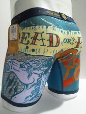 Ed Hardy Men's Horse-Dead or Alive Print  Boxer Briefs Size S Father's day gift