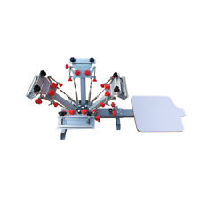 4 Color 1 Station Silk Screen Printing Press Machine with Micro Registration NEW