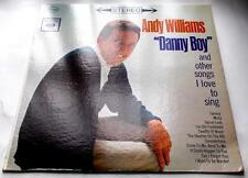 Andy Williams Danny Boy & Others 1961 CBS CS 8551 Classic Pop 33rpm 2 Eye LP VG+