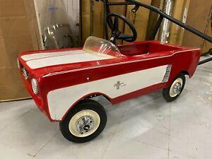 Vtg 1964 AMF Midget Ford Mustang Junior Toy Pedal Car Restored Dealer Promo Nice