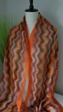 BNWT Missoni Orange Multi Zig Zag Viscose Scarf  Made in Italy!