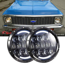 2x 7Inch Led Headlights Hi/Lo Beam Amber Turn Signal Chevrolet Truck 1954-1957
