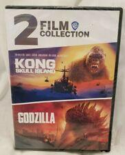 New listing Kong Skull Island(2017) / Godzilla(2014) -2 Film Collection On Dvd Free Ship