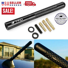 "Black Carbon Fiber TRD Sports Style Short Antenna for Toyota 4.7"" Inch Universal"