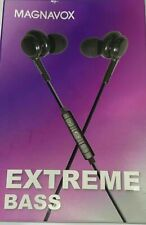 Magnavox EXTREME BASS Earbuds In Ear, Black New