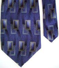 """Daniel Craig Men's Silk Wavy Neck Tie Blue 3 7/8"""" x 60"""""""