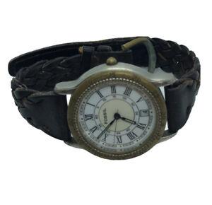 Vintage Men's Fossil - . EC-6837 Wristwatch  For Repair or parts  E3