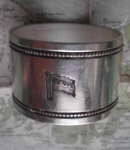 c1920 Original Emmigrant Ship silver LINE silver plated Napkin Ring B